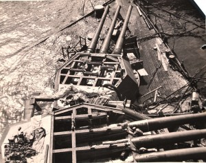 Salvage efforts during WWII at Pearl Harbor